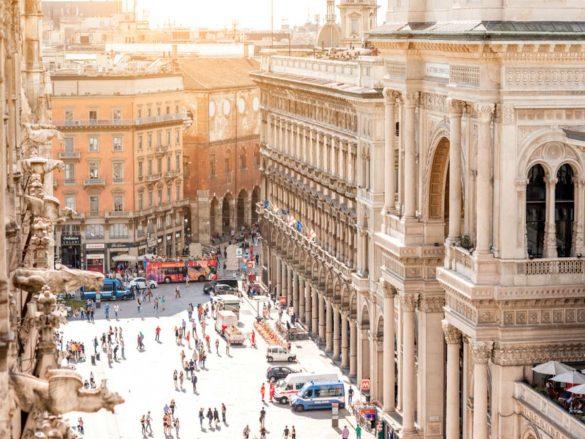 vie dello shopping di Milano